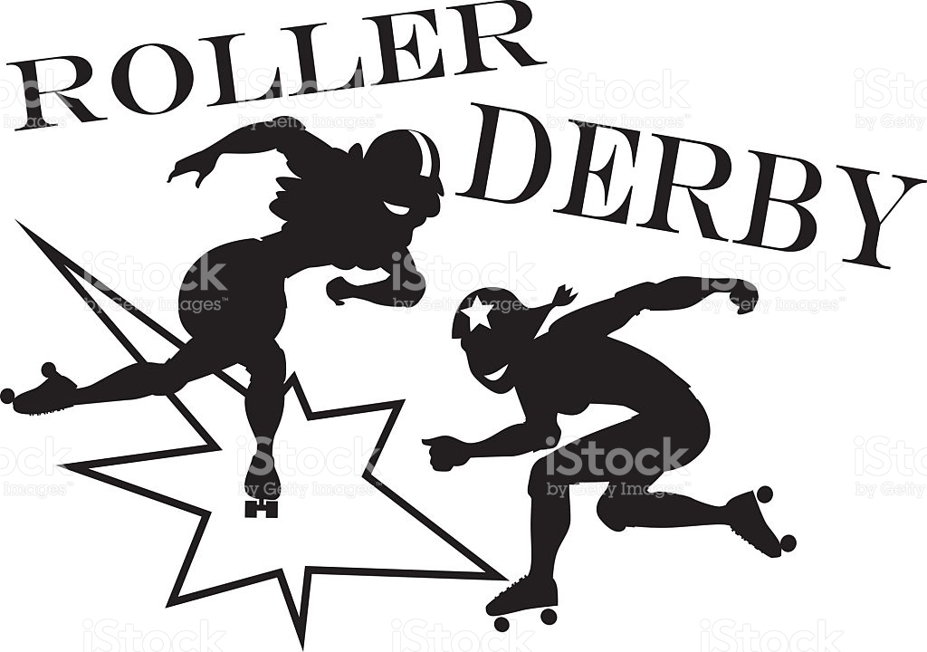 Roller derby clip-art royalty-free stock vector art