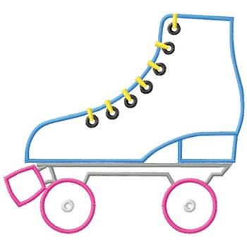 Roller Skate Clip Art Outline - Roller Skates Clip Art
