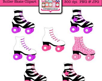 Roller Skate Clipart - Skating Party Cli-Roller Skate Clipart - Skating Party Clipart - Leopard Print - Zebra Print-8