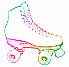 Roller Skate for invites. - Roller Skates Clip Art
