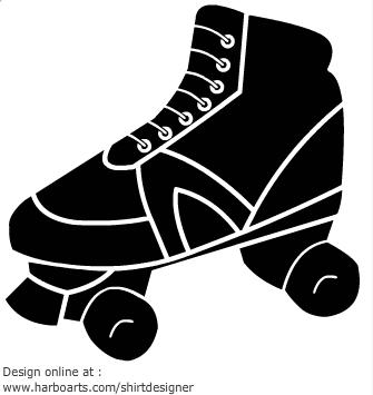 Roller Skate Silhouette Clip Art. Rollerskate - Vector Graphic