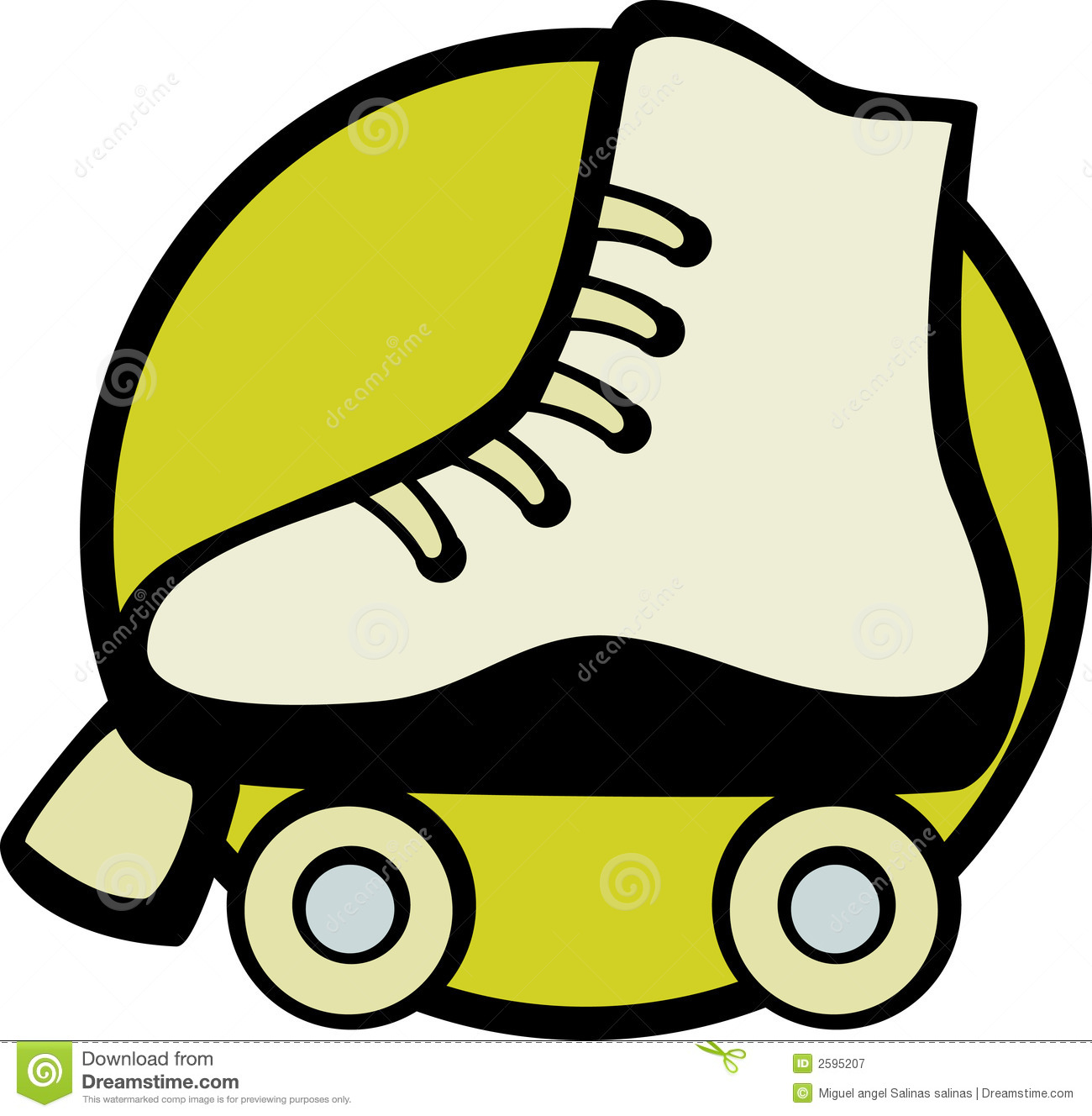 Roller skate vector illustration Royalty Free Stock Photography