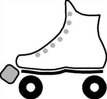 Roller Skating Clip Art Free. - Roller Skates Clip Art