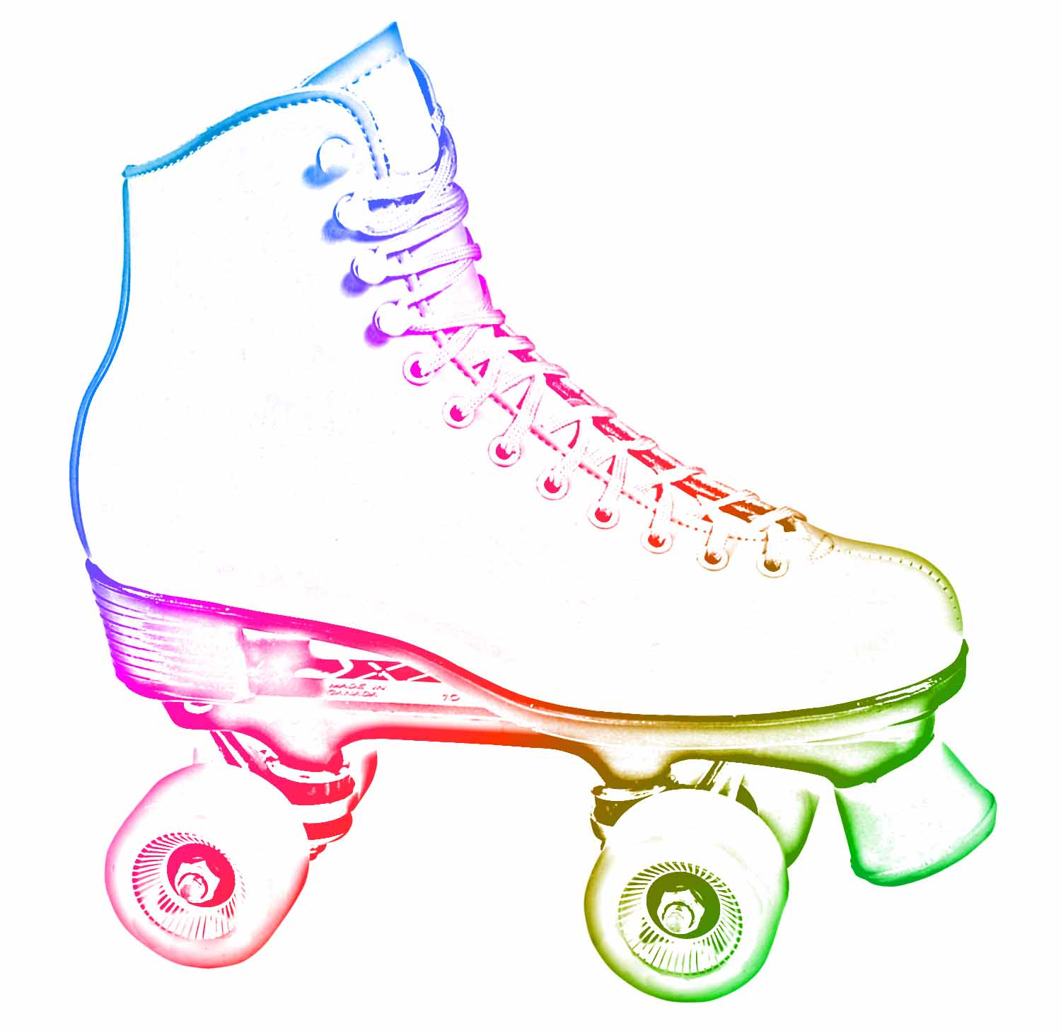 image regarding Free Printable Roller Skate Template known as 48+ Roller Skates Clipart ClipartLook