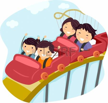 rollercoaster: Illustration o - Rollercoaster Clipart