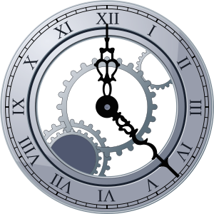 Roman Clock Clipart Vector .