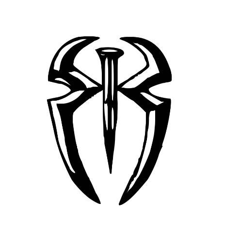 Roman Reigns Symbol WWE Wrestling Wrestler Decal Sticker