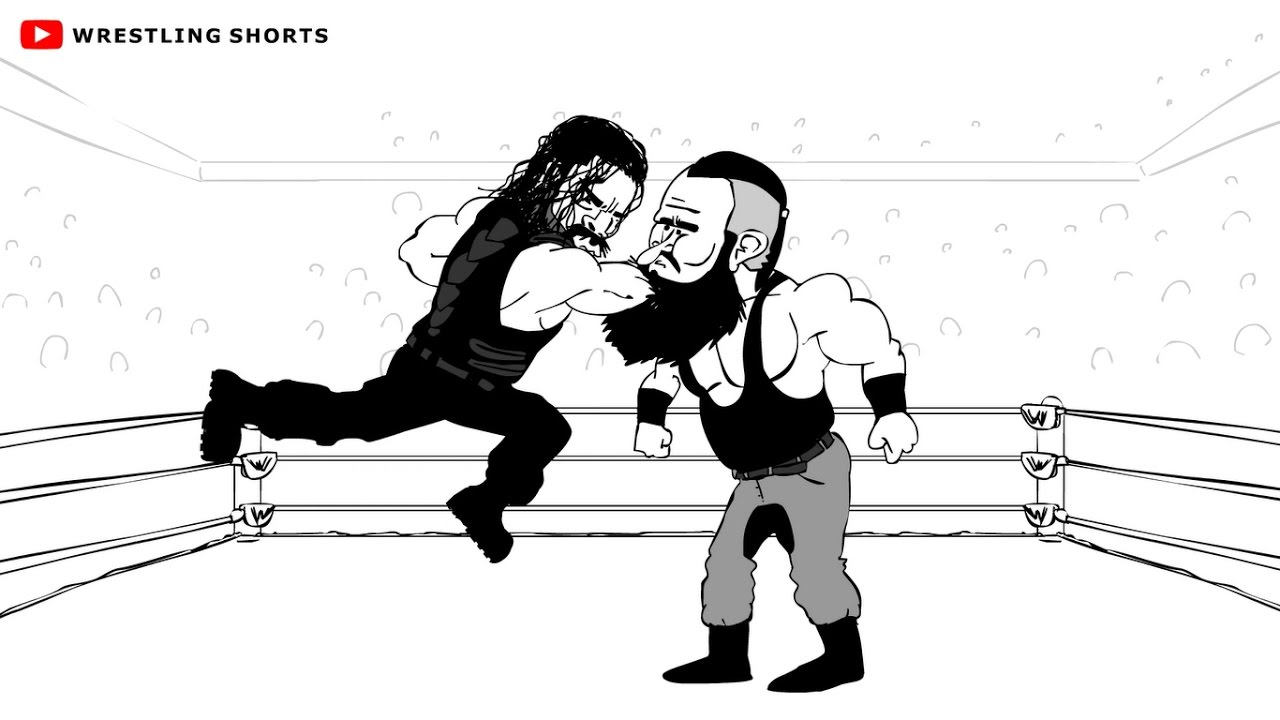 Roman Reigns vs Braun Strowman Payback Cartoon