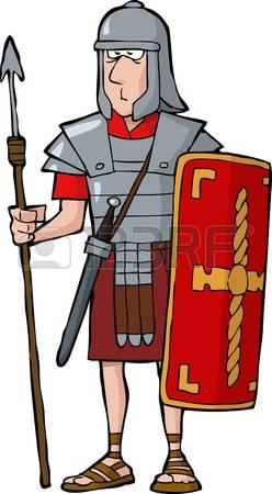 roman warrior: Roman legionary on a white background vector illustration Illustration