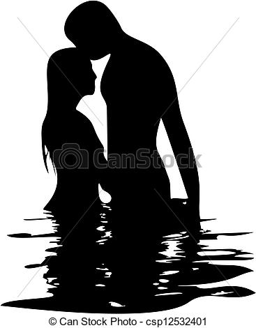 Romantic Clip Art. happiness and romantic Scene - .