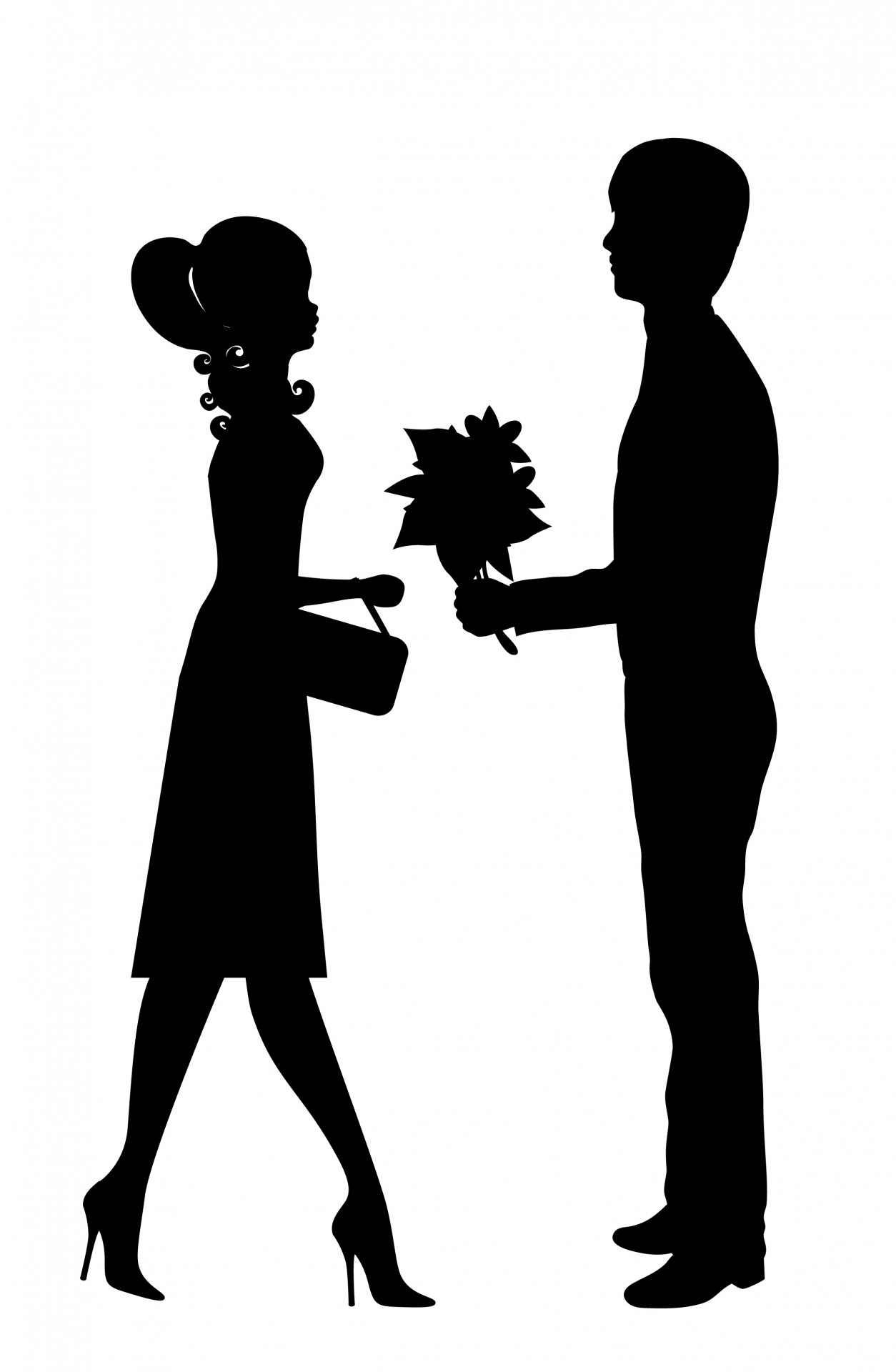 Romantic Young Couple Clipart Free Stock Photo
