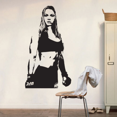 Removable Vinyl Carved UFC Champion MMA Ronda Rousey Wall Decal Art Poster  Decor Sticker Vinyl Mural