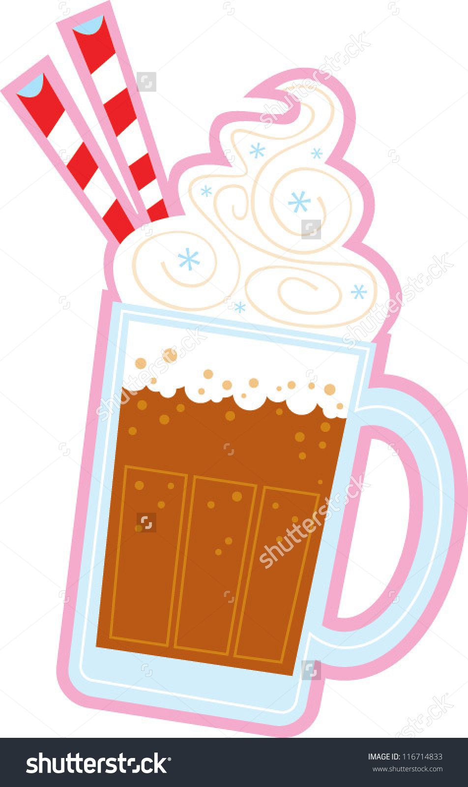 Root Beer Float Stock Vector .