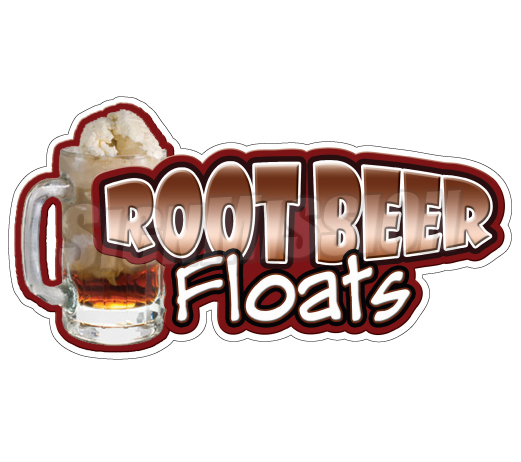 Root Beer Floats Concession Decal Cart T-Root Beer Floats Concession Decal Cart Trailer Stand Sticker Equipment-12
