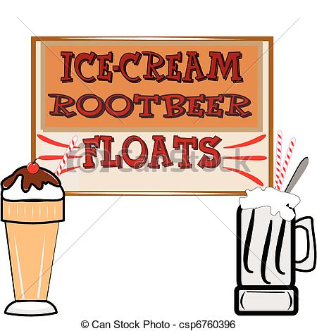 ... Rootbeer Floats And Ice Cream - Back-... rootbeer floats and ice cream - background in retro style... ...-15