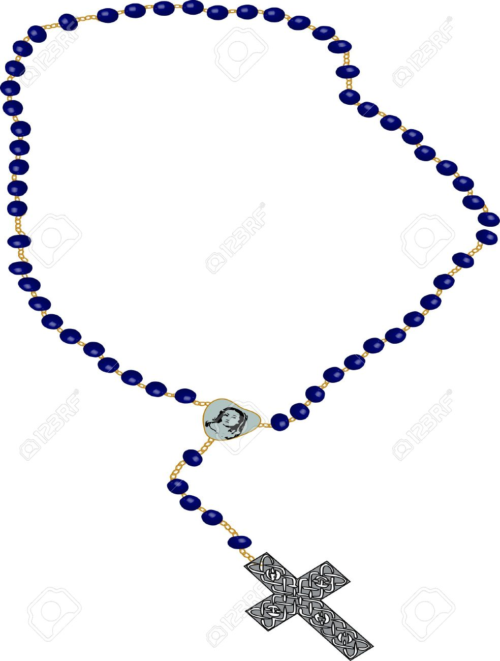 Rosary Clip-art Illustration On White Ba-rosary clip-art illustration on white background. Stock Illustration - 3425422-13
