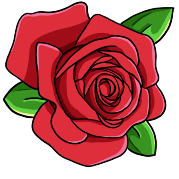 Single red rose clipart - Cli