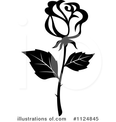 rose clipart - Rose Clipart Black And White