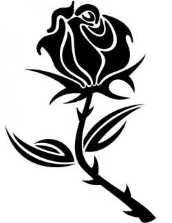 ... Rose Clip Art Black And White - Free-... Rose Clip Art Black And White - Free Clipart Images ...-14