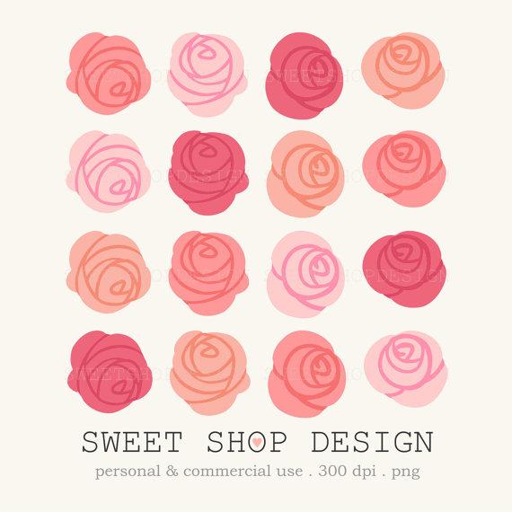Rose Clip Art, Flower Clip Art ..