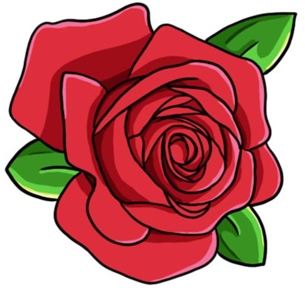 rose clip art-rose clip art-5