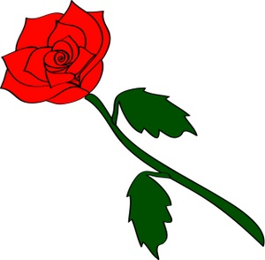 Rose Clipart Image: Long . - Red Roses Clipart