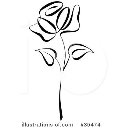 Royalty-Free (RF) Rose Clipart Illustrat-Royalty-Free (RF) Rose Clipart Illustration #35474 by C Charley-Franzwa-7