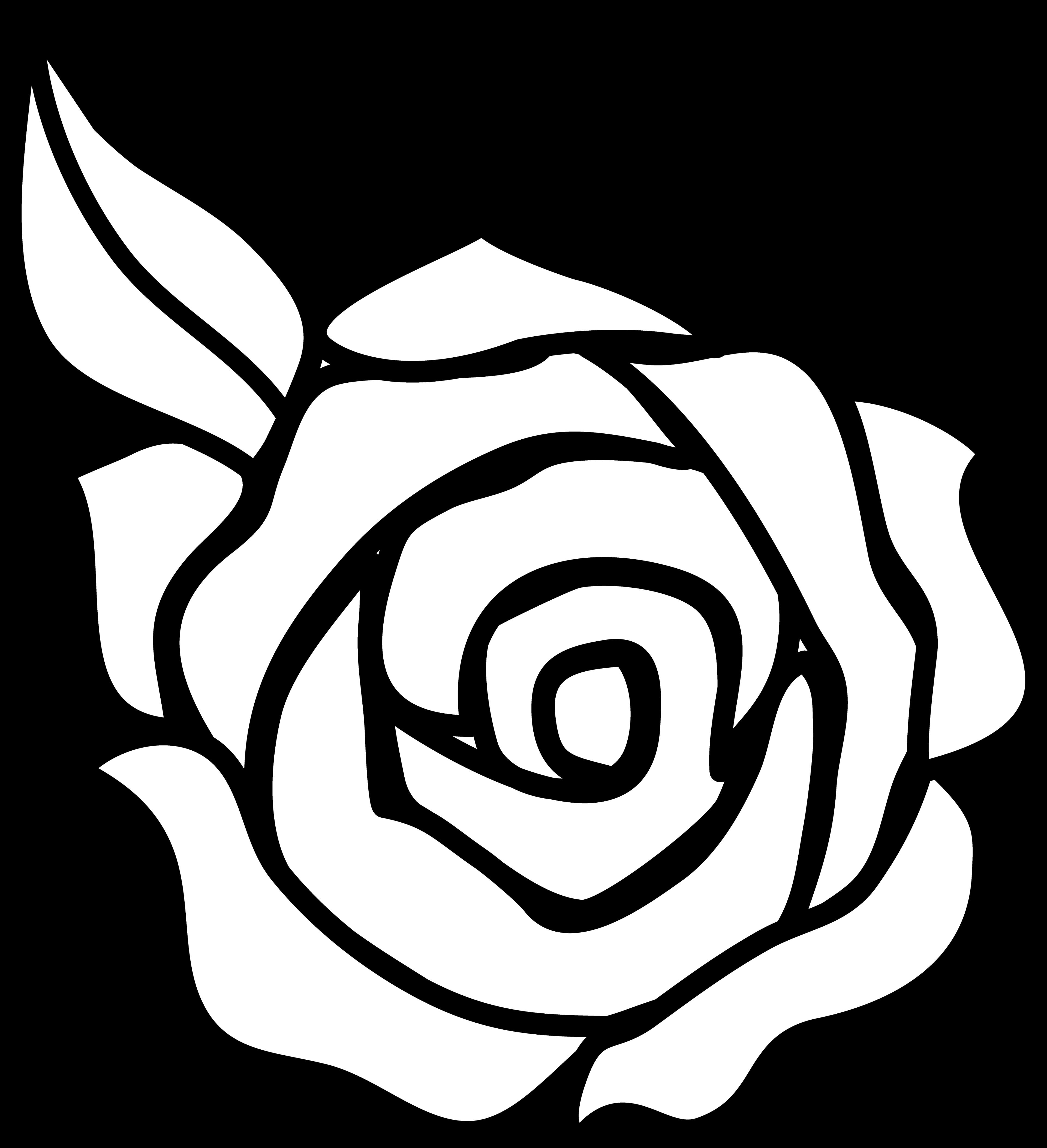 Rose Outline Clipart Panda .-Rose Outline Clipart Panda .-16