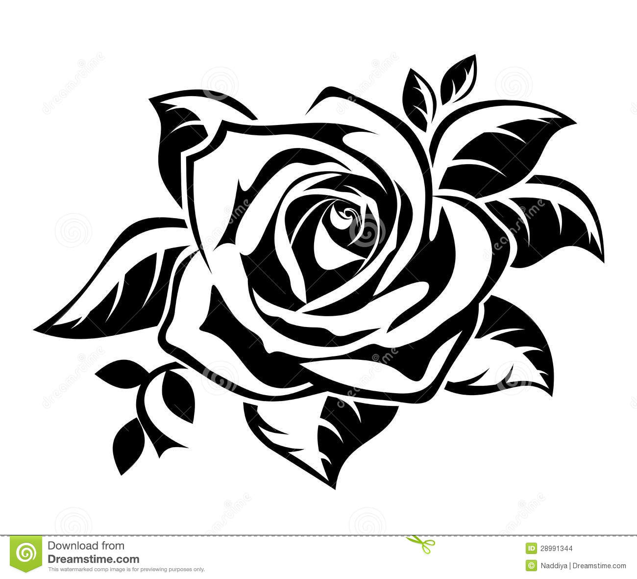 Roses Clip Art Black And White. Vector I-Roses Clip Art Black And White. Vector Illustration Of Black .-15
