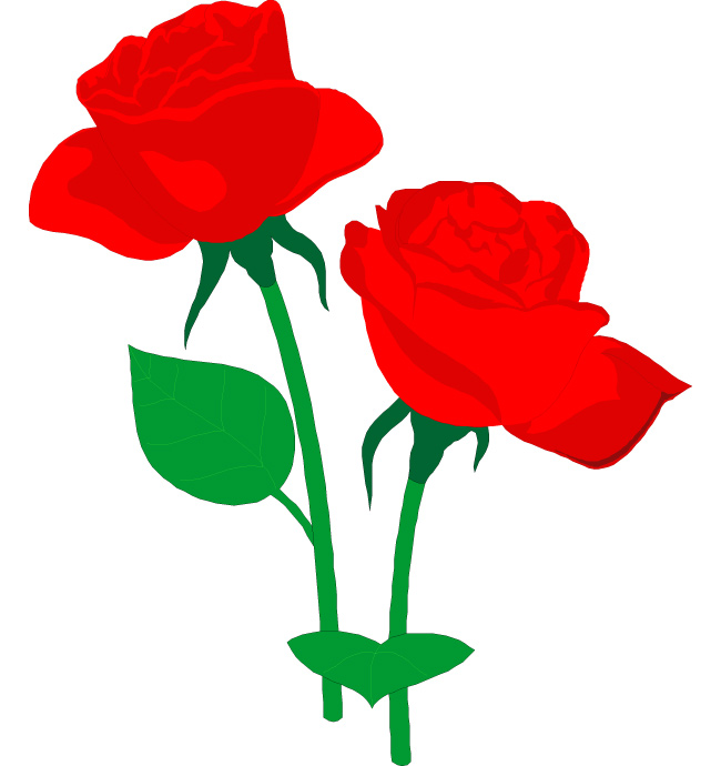 Roses Clip Art - Red Roses Clipart