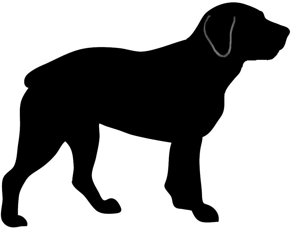 Rottweiler silhouette clipart u0026middot; Newfoundlander silhouette dog