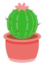 Round Barrel Cactus In Clay Planter Clip-Round Barrel Cactus In Clay Planter Clipart Size: 86 Kb-18