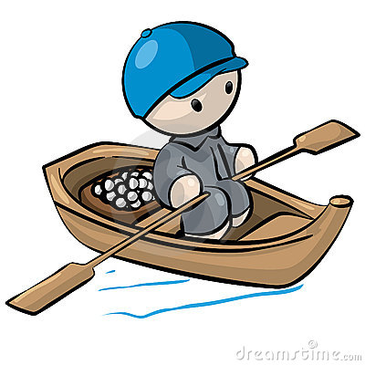Row Boat Clipart Little Man Rowboat 12292587 Jpg