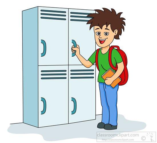 Open School Locker Clip Art O