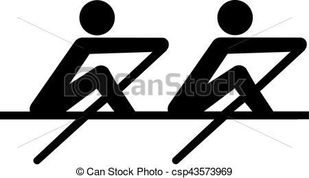 Rowing Icon coxless pair - csp43573969