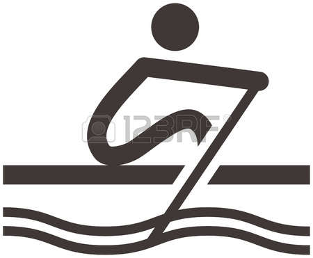 Summer sports icons set - row - Rowing Clipart