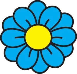 Royal Blue Flower Clipart