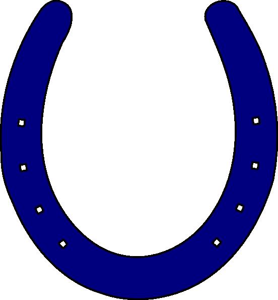 Royal Blue Horseshoe Clip Art