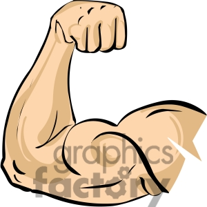 Royalty Free Arm Flexing Bicep Muscle Clipart Image Picture Art