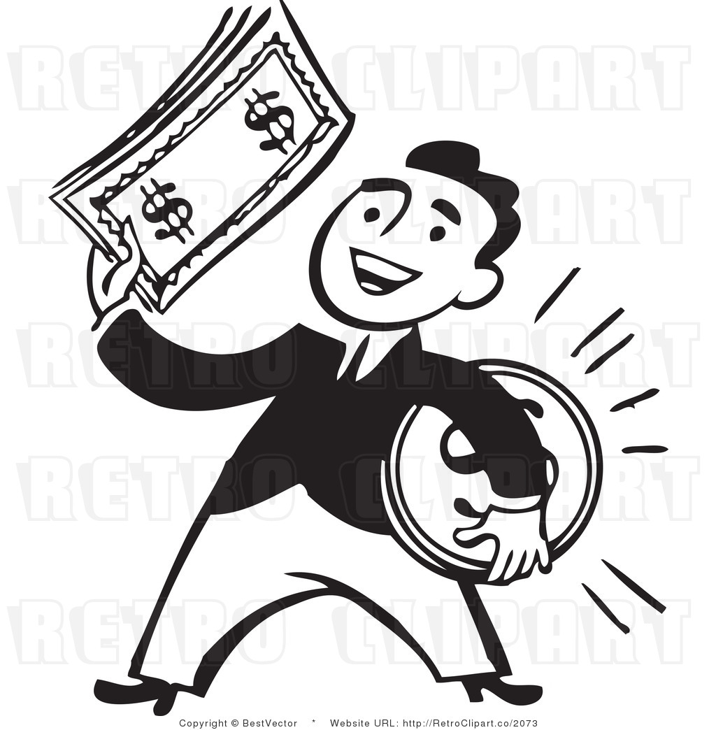 Royalty Free Black And White  - Money Clipart Black And White