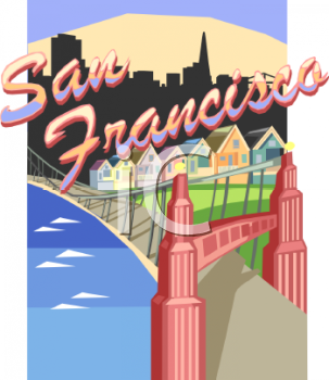 Royalty Free Clip Art Image: Tourism In -Royalty Free Clip Art Image: Tourism in the United States-San Francisco-8