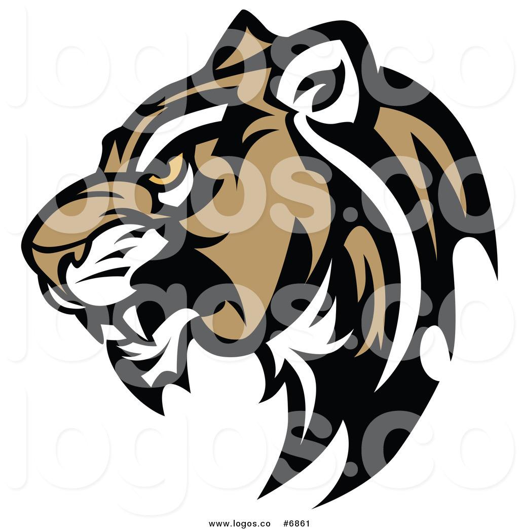 Royalty Free Clip Art Vector Logo Of A C-Royalty Free Clip Art Vector Logo of a Cougar Head in Profile-18