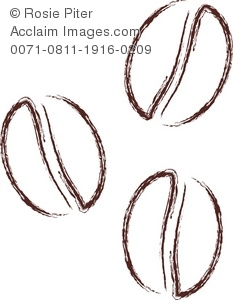Royalty Free Clipar Illustration of Coffee Beans
