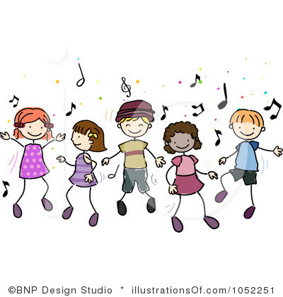 Royalty Free Dancing Clipart Illustration 1052251