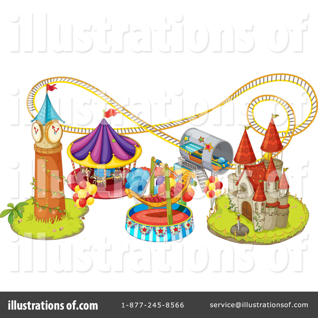 Royalty-Free (RF) Amusement Park Clipart-Royalty-Free (RF) Amusement Park Clipart Illustration #1118242 by colematt-14