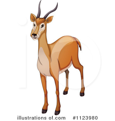 Royalty-Free (RF) Antelope Clipart Illus-Royalty-Free (RF) Antelope Clipart Illustration #1123980 by colematt-18