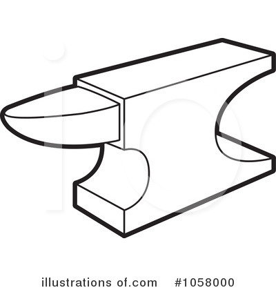 Royalty-Free (RF) Anvil Clipart Illustration #1058000 by Lal Perera