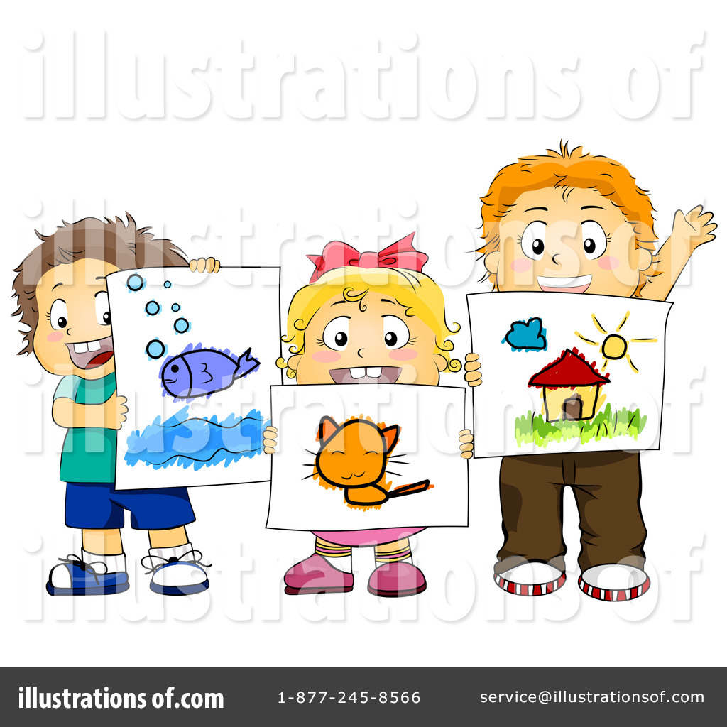 Royalty-Free (RF) Art Class Clipart Illustration #432936 by BNP Design Studio