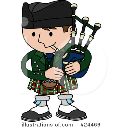 Royalty-Free (RF) Bagpipes Clipart Illustration #24466 by  AtStockIllustration