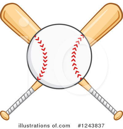 Royalty-Free (RF) Baseball Clipart Illustration #1243837 by Hit Toon